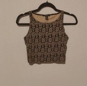 Forever 21 crop top tribal print size small